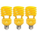 Globe Electric 84392 100-watt Equivalent 23-watt Energy Saver with CFL Medium Base Light Bulb, Yellow, 3-Pack