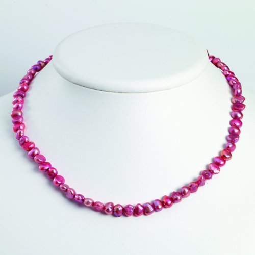 Sterling Silver Pink Freshwater Cultured Pearl Necklace