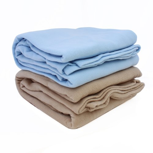 Lowest Price! ALTA Luxury Hotel Fleece Blanket, Full Queen, Tan