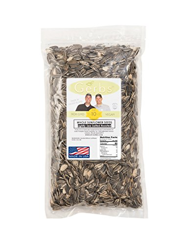 Lightly Sea Salted Sunflower Seed In Shell by Gerbs - 4 LBS - Top 11 Food Allergen Free & Non GMO - Premium Dry Roasted Seeds - COG USA (Sunflower Seeds Gerbs compare prices)