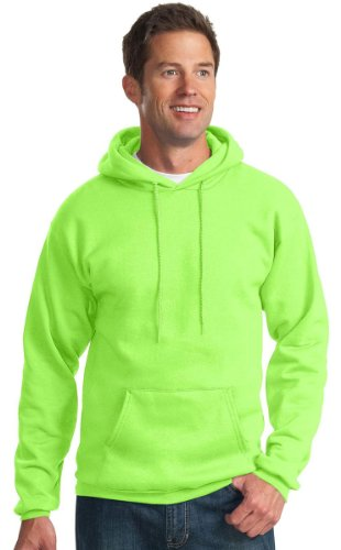 Port & Company Men'S Pullover Hooded Sweatshirt_Neon Green_Medium