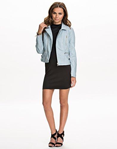 NLY Trend Women's Slim Biker Jacket Light Blue Size 6 100% polyurethane. lined of 100% polyester.