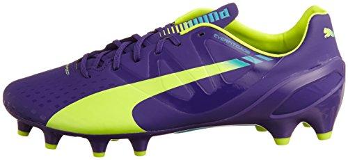 Puma Evospeed 1.3FG, Herren-Fußballschuhe, Violett (Violett/Gelb/Blau), Größe 46,5 -