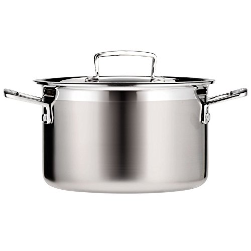 Le Creuset Tri-Ply Stainless Steel 4-1/4-Quart Covered Casserole/Stockpot