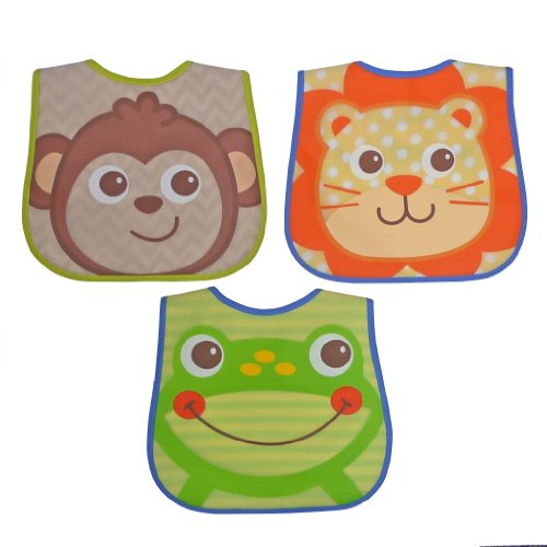 Neat Solutions Peva Bib Set, Boy Character, 3 Count