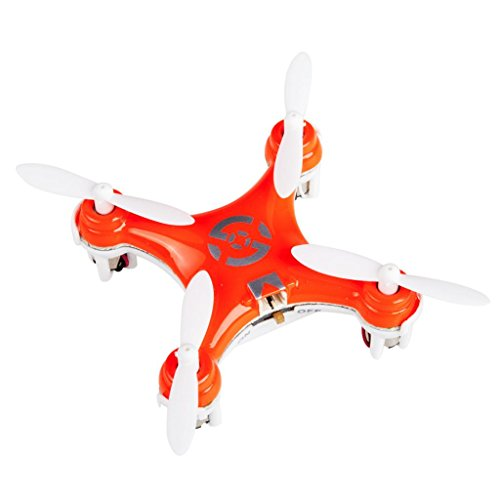 Efly Smart X Rc Quadcopter Rtf With Gyro, Mini Rc Helicopters With Led Lights & Transmitter Receiver, Without Transmitter Battery (Orange)