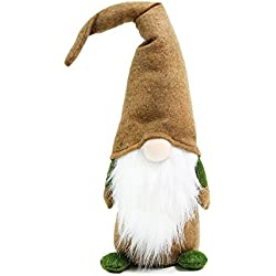 Handmade Swedish Tomte, Gnome - Holiday Home Decoration Christmas Gifts 16 Inch Brown
