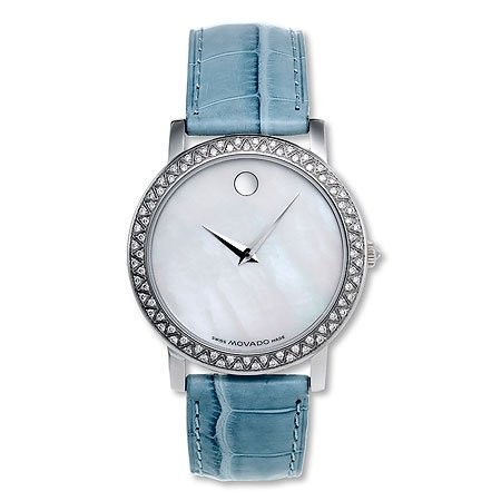 Movado Womens Revi Diamond Watch