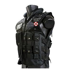 親切堂 バイオハザード(BIOHAZARD)アンブレラ社ベスト Tactical Vest (タクティカルベスト)装備品セット 特殊部隊防弾チョッキ・ボディアーマー G36系マガジン収納可 フリーサイズ調整可 ブラックver