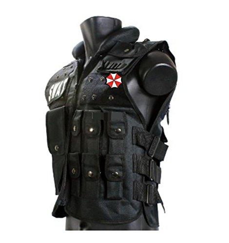 親切堂 Tactical Vest (タクティカルベスト)装備品セット 特殊部隊防弾チョッキ・高品質ボディアーマー G36系マガジン収納可 フリーサイズ調整可 ブラックver