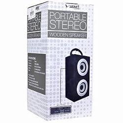 VIBE VS-577-SK-WHT Portable USB Powered Stereo Wooden Speaker System (White/Black)