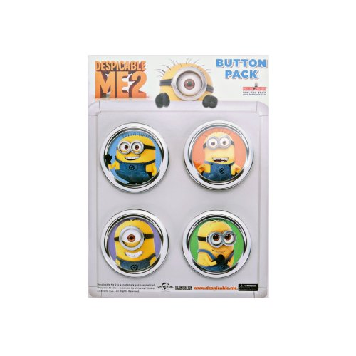 Despicable Me 2 Cast 4-Pack Button Set