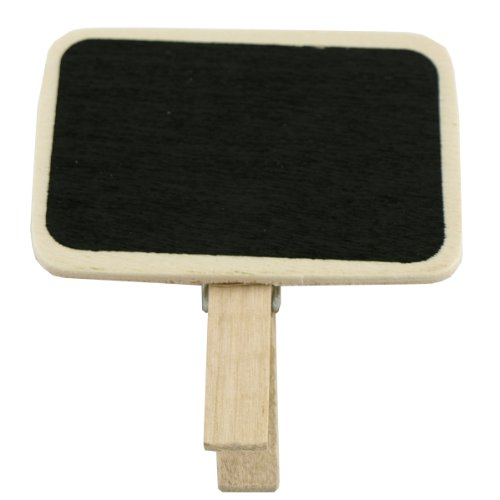 AllyDrew Mini Chalkboard with Wooden Clip (set of 6) - 1