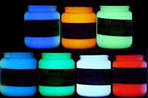 7 color set of 4oz glow in the dark paint luminous glowing - Glow in the dark paint colors ...