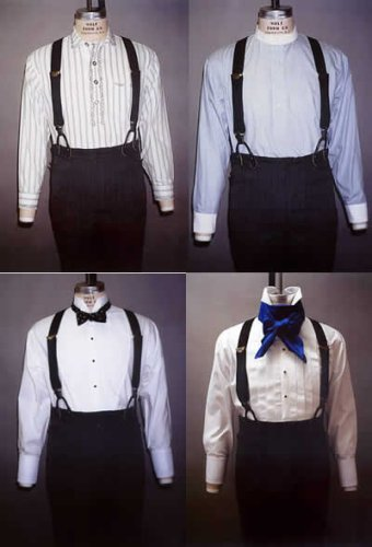 Edwardian Men's Formal Wear Mens Shirt Pattern (1845-1920) $13.95 AT vintagedancer.com