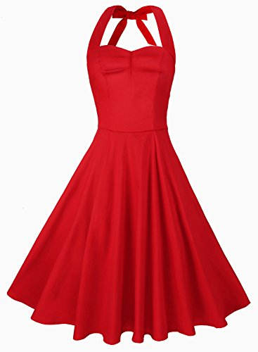 anni-coco-womens-marilyn-monroe-1950s-vintage-halter-swing-tea-dresses-red-small
