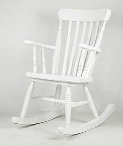 Sedia a dondolo in legno laccato bianco old river for Sedia a dondolo amazon