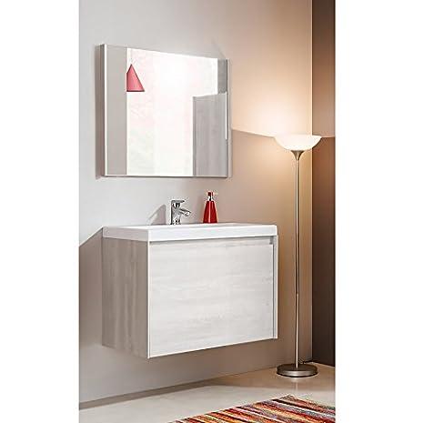 Set da bagno JENNY in pino 60cm & 80cm lavabo - PINO DECORAZIONE, 80 cm