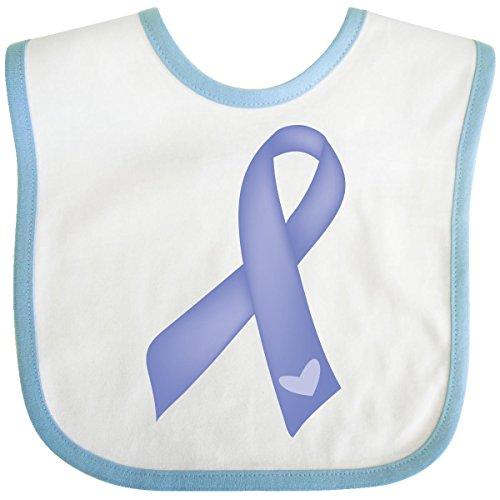 Inktastic Baby Boysâ€Tm Periwinkle Ribbon Awareness Ribbon Baby Bib One Size White/Blue front-658899