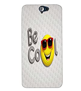 PrintVisa Cute Cartoon Cool Smiley 3D Hard Polycarbonate Designer Back Case Cover for HTC One A9