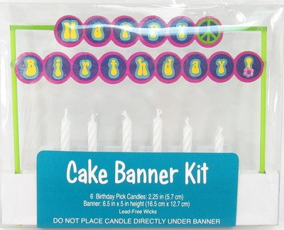 Groovy Girl Party Cake Banner Kit - 1