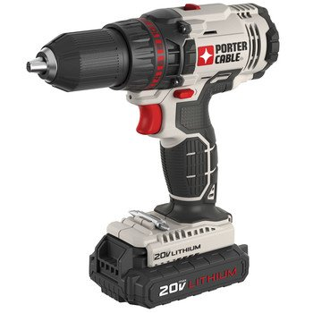 Factory-Reconditioned Porter-Cable PCC601LBR 20V MAX 1.3 Ah Cordless Lithium-Ion 1/2 in. Drill Driver Kit