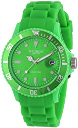 Madison New York Men's Quartz Watch Candy Time Silicon U4167-10/2 with Plastic Strap