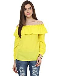 Yellow Bardot Full Sleeves Medium