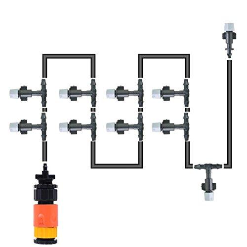 Misting System Winterizing : Thebluestone diy ft nozzles misting system kit for