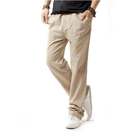 Giacca di lino jean HOEREV uomini Casual spiaggia pantaloni pantaloni estivi