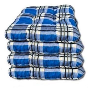 4 x Sitzkissen für Gartenmöbel   Polster Kissen   8 cm dicke