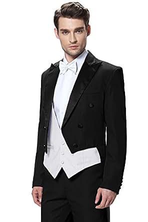 CMDC Men's White House Steward Dress Leisure Tuxedo Three-piece Suit