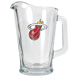 Miami Heat NBA 60oz Glass Pitcher - Primary Logo