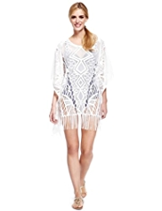 M&S Collection Lace Cover-Up Kaftan