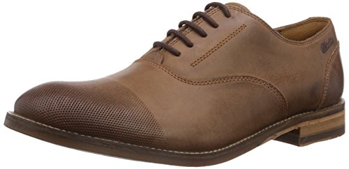 Clarks Exton Oak, Scarpe Derby con lacci uomo, Marrone (Braun (Tobacco Leather)), 48