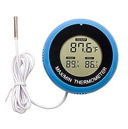 Aquarium Thermometer,Daen Digital Water Thermometer For Fish Tank Aquarium Marine Temperature