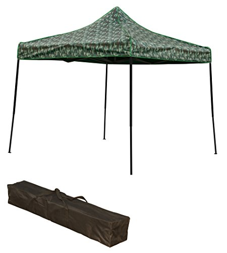 Trademark Innovations Lightweight Portable Canopy Tent Set Camouflage