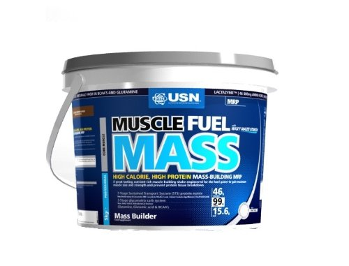 USN Muscle Fuel Mass 5000 g Strawberry Muscle and Mass Gain Shake Powder