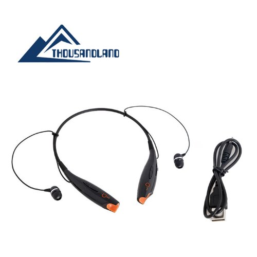 Universal B9 Black Wireless Music A2Dp Stereo Bluetooth Headset Universal Vibration Neckband Style Headset Earphone Headphone For Cellphones Such As Iphone, Nokia, Htc, Samsung, Lg, Moto, Pc, Ipad, Psp And So On & Enabled Bluetooth
