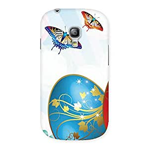 Cute Animated Butterflies Print Back Case Cover for Galaxy S3 Mini