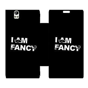 Skintice Designer Flip Cover with Vinyl wrap-around for Lava X1 grand, Design - fancy