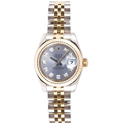 Rolex Ladys 179173 Datejust Steel & 18k Gold, Jubilee Band, Fluted Bezel & Silver Diamond Dial