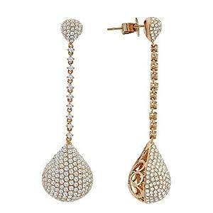 Diamond Designer Dangle Earrings In 18K Rose Gold