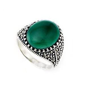 Hot Selling! 925 Sterling Silver Snake Ring Marcasite Intial Ring Designs for Women (Wzl0020-tyjz)