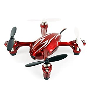 Foxnovohubsan X4 H107c 2.4ghz 4-channel Mini Radio Control Rc Quadcopter RTF with 2.0mp Hd Camera LED Lights (Red+white)