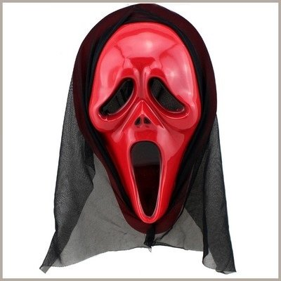 [Fashion Cosplay for Halloween Masquerade Carnival Party Mask (Scream Red)] (Funny Easy Guy Halloween Costumes)