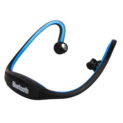 Bestfire® Brand New Sport Wireless Waterproof Stereo Bluetooth Headphones Handsfree Music Earbud Headset For Smartphone For Iphone 4 4S 5 5G Ipad 1 2 3 4 Ipad Mini (Blue)