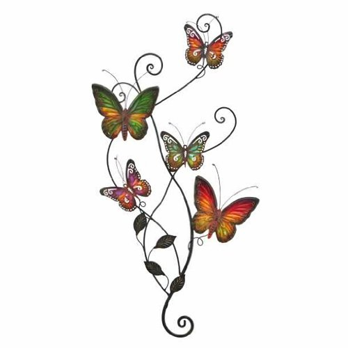 Metal Wall Decor Butterfly Sculpture 29×15