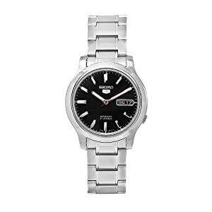 Seiko Men's SNK795K1S Stainless-Steel Analog with Black Dial Watch