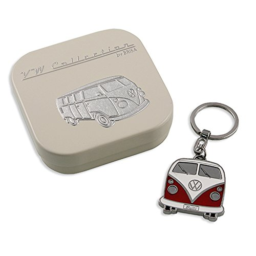 VW Collection by BRISA Key Chain - Red Bus Front - Official VW Licensed Product